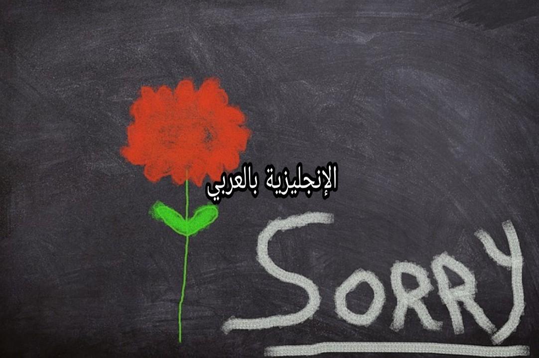 مصطلحات الإعتذار في الإنجليزية